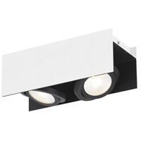 Eglo 39316A Vidago 2 Light 120V Black and White Track Light Ceiling Light