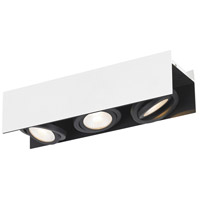 Eglo 39317A Vidago 3 Light 120V Black and White Track Light Ceiling Light