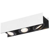Eglo 39317A Vidago 3 Light 120V Black and White Track Light Ceiling Light