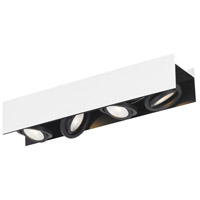 Eglo 39318A Vidago 4 Light 120V Black and White Track Light Ceiling Light