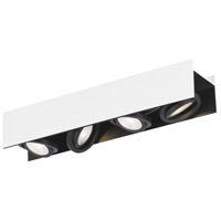 Eglo 39318A Vidago 4 Light 120V Black and White Track Light Ceiling Light