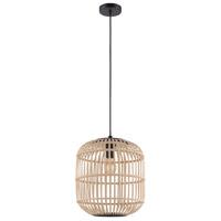 Eglo 43216A Bordesley 1 Light 14 inch Black Drum Pendant Ceiling Light