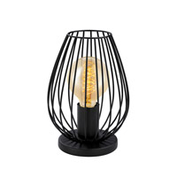 Eglo Newtown 1 Light Table Lamp in Matte Black 49481A