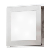 Eos 2 Light 12 inch Matte Nickel & Chrome Wall Light