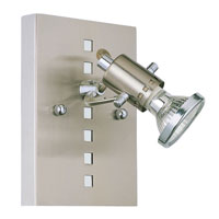 Eglo Lighting Fizz 1 Light Wall Spot in Matte Nickel & Chrome 82242A photo thumbnail