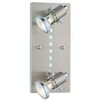 Eglo Lighting Fizz 2 Light Track Spot Light in Matte Nickel & Chrome 82243A