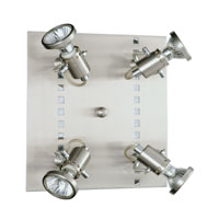 Fizz Matte Nickel & Chrome 50 watt 4 Light Ceiling Spot Light