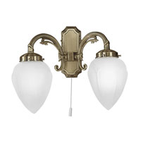 Eglo Imperial 2 Light Wall Sconce in Burnished Bronze 82745A