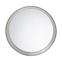 Eglo 82942A Planet 1 Light 12 inch Matte Nickel Wall Light