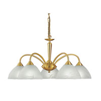 Eglo Lord 5 Light Chandelier in Brass Coated 83017A