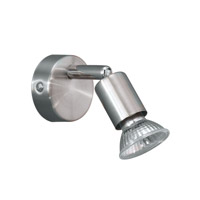 Eglo Buzz 1 Light Track Light in Matte Nickel & Chrome 83046A