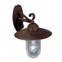 Eglo Milton 1 Light Outdoor Wall Light in Antique Brown 83589A photo thumbnail