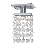 Pyton Chrome 40 watt 1 Light Ceiling Spot Light