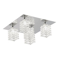 Pyton 5 Light 12 inch Chrome Semi-Flush Ceiling Light