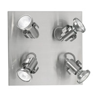 Eglo 86019A Tukon Matte Nickel 50 watt 4 Light Ceiling Spot Light