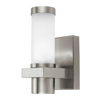 Eglo 86385A Konya 1 Light 9 inch Matte Nickel Outdoor Wall Light