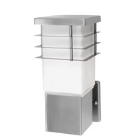 Eglo 86391A Calgary 1 Light 11 inch Stainless Steel Outdoor Wall Light