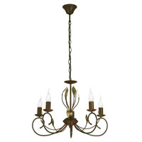 Eglo Catania 5 Light Chandelier in Antique Brown 86867A
