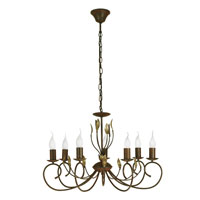 Eglo Catania 7 Light Chandelier in Antique Brown 86868A