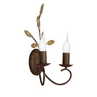 Eglo Catania 2 Light Wall Sconce in Antique Brown 86869A
