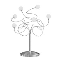 Eglo Ferrara 6 Light Table Lamp in Matte Nickel 86913A