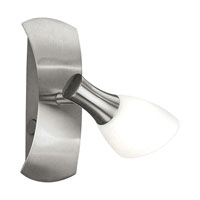 Eglo Ona 1 1 Light Wall Light in Matte Nickel 87357A
