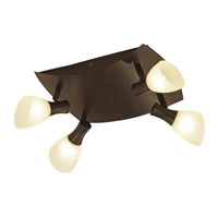 Eglo Ona 1 4 Light Spot Lght in Antique Brown 87363A