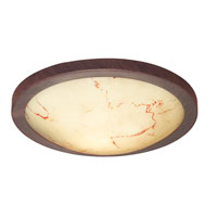 Eglo Timor 1 Light Flush Mount in Antique Brown 87855A