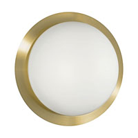 Eglo Orbit 1 2 Light Flush Mount in Brass Coated 88098A