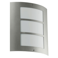 Eglo Lighting City 1 Light Outdoor Wall Light in Stainless Steel 88139A