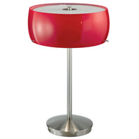 Eglo Camaro 3 Light Table Lamp in Matte Nickel 88187A
