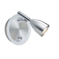 Eglo Halva 1 Light Track Light in Aluminum & Chrome 88359A