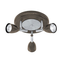 Eglo Halva I 3 Light Track Light in Antique Brown 88373A