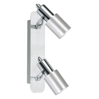 Eglo Sines 2 Light Track Light in Brushed Aluminum 88378A