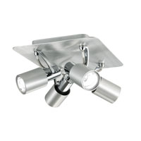 Eglo Sines 4 Light Track Light in Brushed Aluminum 88379A