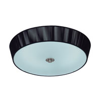Eglo Ricarda 1 Light Flush Mount in Black 88442A