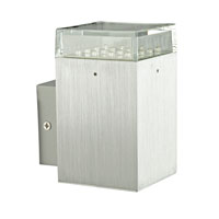 Eglo Loca 1 Light Wall Light in Brushed Aluminum 88526A
