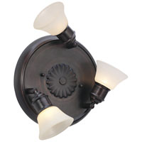 Eglo Alamo 3 Light Ceiling Light in Burnished Brown 89061A