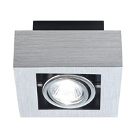 Eglo Loke 1 Light Ceiling Mount in Brushed Aluminum 89075A