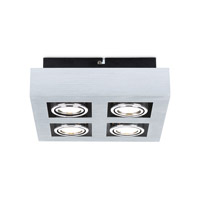 Eglo 89079A Loke Brushed Aluminum 20 watt 4 Light Spot Light alternative photo thumbnail