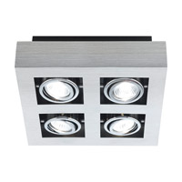 Loke Brushed Aluminum 20 watt 4 Light Spot Light