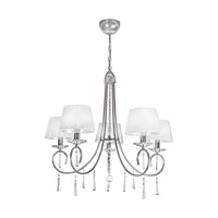 Selene 5 Light 30 inch Chrome Chandelier Ceiling Light