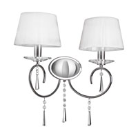 Selene 2 Light 17 inch Chrome Wall Sconce Wall Light