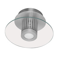 Eglo Lighting Chiron 1 Light Flush Mount in Aluminum 89117A