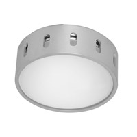 Chiron 1 Light 6 inch Aluminum & Chrome Flush Mount Ceiling Light