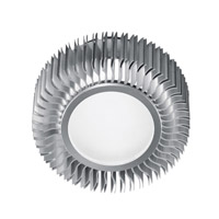 Eglo Lighting Chiron 1 Light Flush Mount in Aluminum 89119A