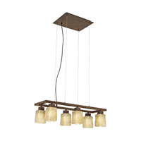 Eglo Norwich 6 Light Island Light in Antique Brown 89145A