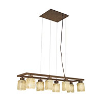 Eglo Norwich 8 Light Island Light in Antique Brown 89146A