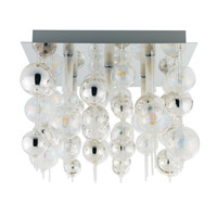 Morfeo 5 Light 15 inch Chrome Wall Light