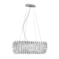 Drifter 8 Light 31 inch Chrome Chandelier Ceiling Light